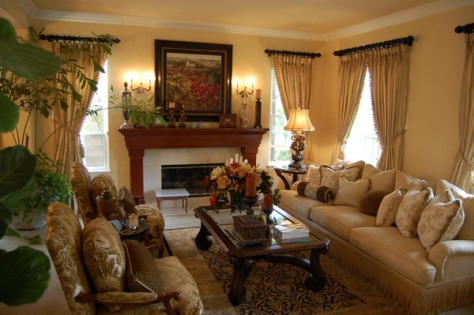French country living room style - Interior design