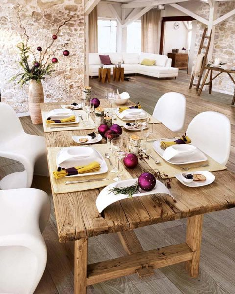 the following photographs about how to decorate dining room tables