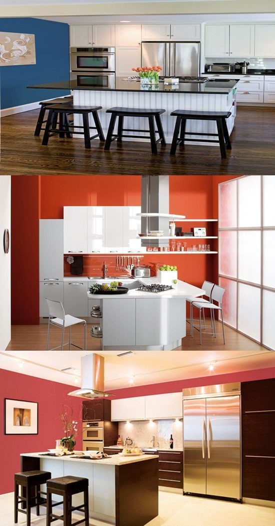 Ideas For Modern Kitchen Designs Colors And Lights Interior Design