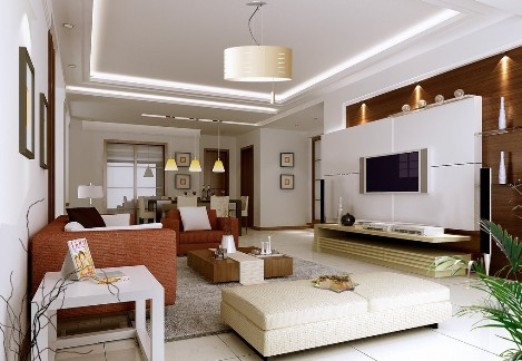 Living Room Interior Design - Family Living