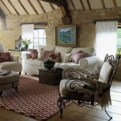 Rustic living room furniture interior design - Rustic chic living room ...