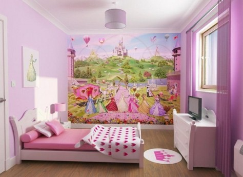 Wallpaper border for teenage girls bedroom