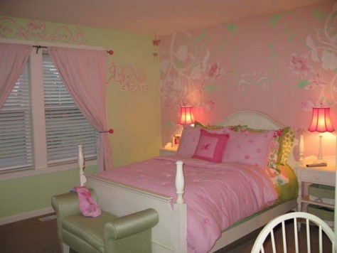 Wallpaper border for teenage girls bedroom interior design Wallpaper for teenage girl bedroom