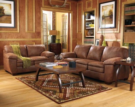 How to decorate a living room with brown furniture for Brown living room furniture