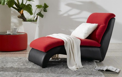 Chaise lounge chair living room