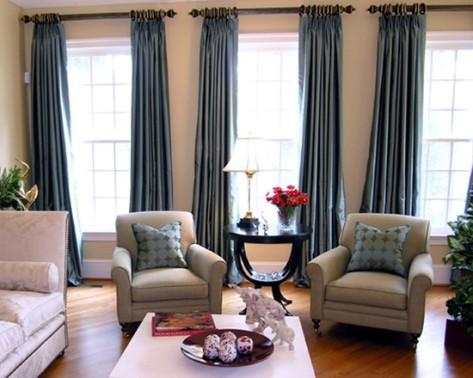 Living room drapes and curtains interior design - Living room curtains photos ...