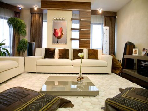 Living room wall decorating ideas interior design for Ideas de decoracion para salas modernas