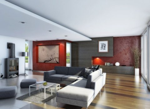Cheap interior design ideas interior design - Grey wood floors modern interior design ...