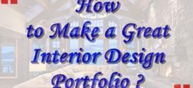 How to make a great Interior Design Portfolio