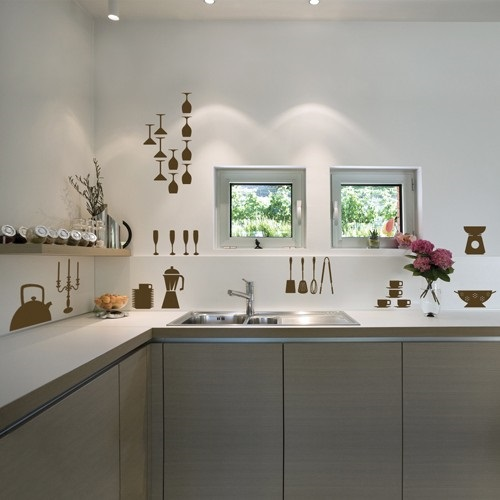 Kitchen wall decor ideas interior design for White kitchen wall decor