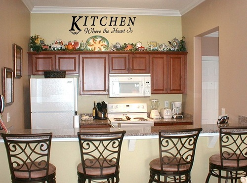 Kitchen wall decor ideas interior design for Kitchen decoration tips