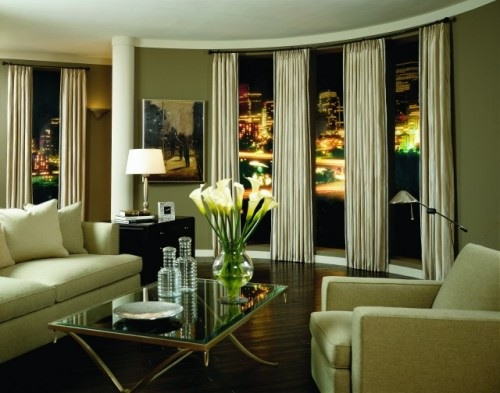 living room window treatment ideas interior design. Black Bedroom Furniture Sets. Home Design Ideas
