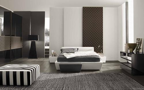 small bedroom color, lighting and mirror ideas - interior design