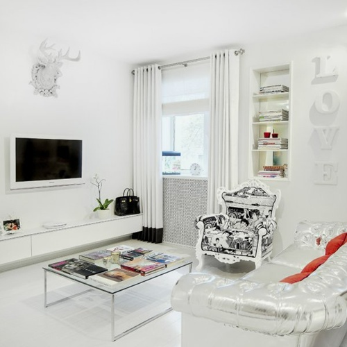 White Living Room Furniture ...