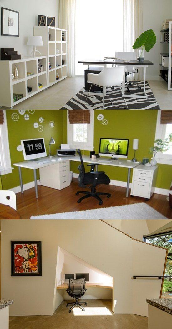 6 creative small home office ideas interior design for Creative home office interior design