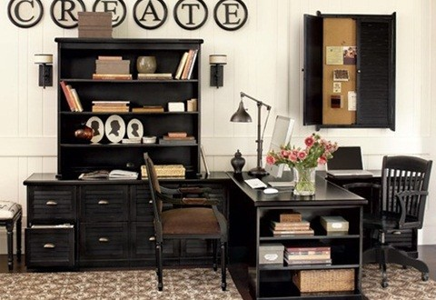 6 creative small home office ideas interior design for Office design home ideas