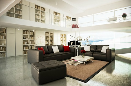 Decorate a Living Room in Brown