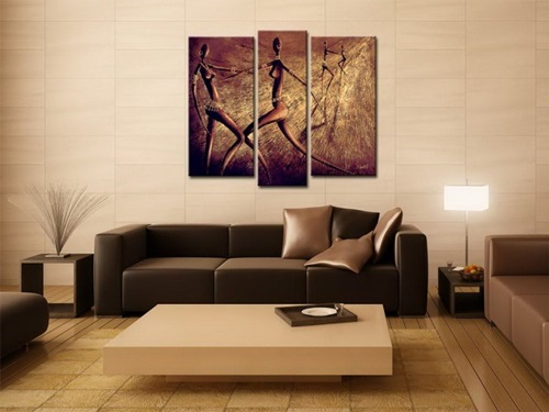 Wall Decor For Brown Furniture : Decorate a living room in brown interior design