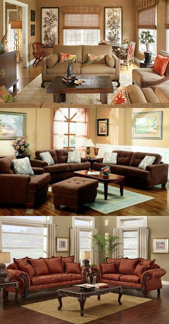 Decorate Living Room With Loveseat Recliner: Decorate A Living Room In Brown