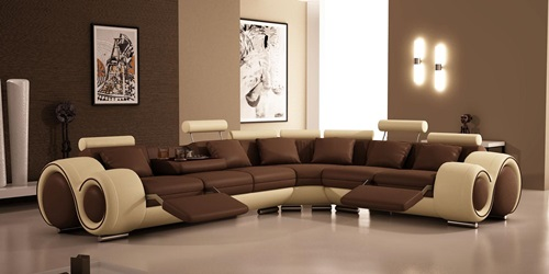 Ideas for Decorating a Living Room in Brown