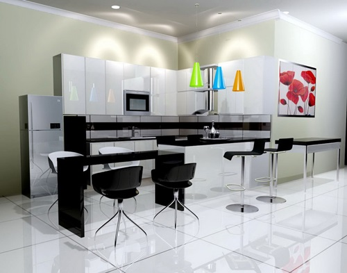 Modern Black Kitchen Designs Interior Design