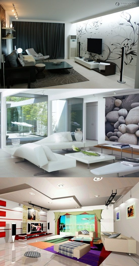 Ultra Modern Living Room Interiors