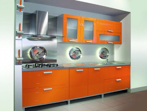 Vibrant Orange Kitchen Decorating Ideas Interior design