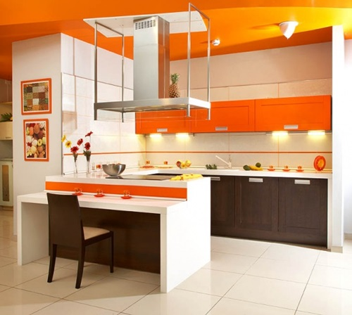 Vibrant Orange Kitchen Decorating Ideas  Interior design