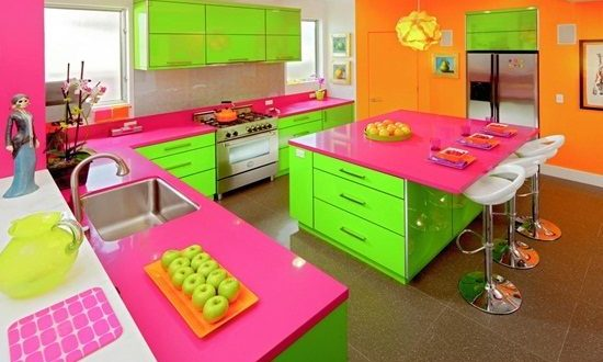 Vibrant Orange Kitchen Decorating Ideas