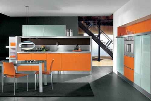 astounding orange kitchen decorating ideas | Vibrant Orange Kitchen Decorating Ideas - Interior design