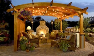 Outdoor living space more beautiful and comfortable