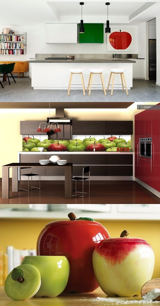 Apple decorations for kitchens interior design for Apples for decoration