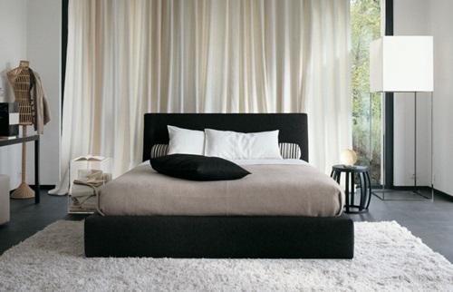 Black White Vintage Bedroom Design Ideas