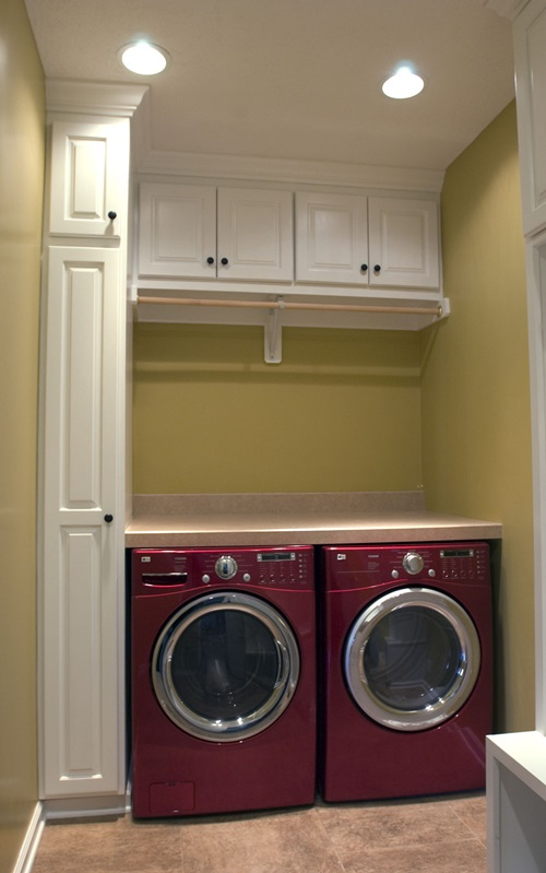 Chic laundry room decorating ideas interior design Laundry room blueprints