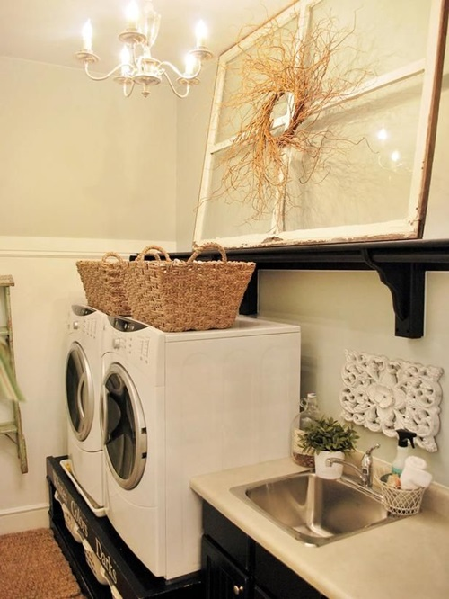 chic laundry room decorating ideas interior design