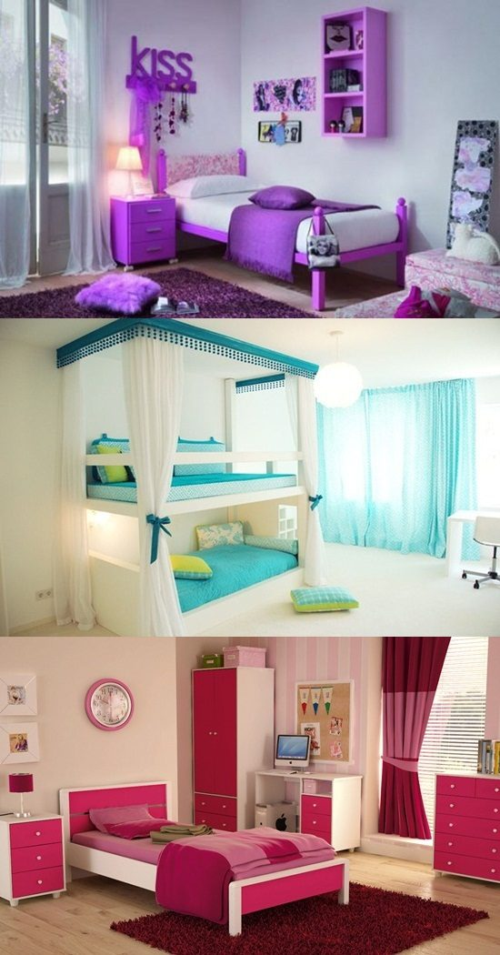 Teen Girl Room Design: Cool Teen Girl's Bedroom Decorating Ideas