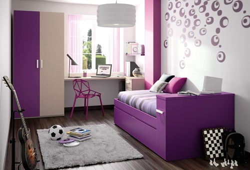 Cool teen girl's bedroom decorating ideas