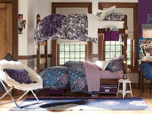 Creative Teen Dorm Room storage and design Ideas