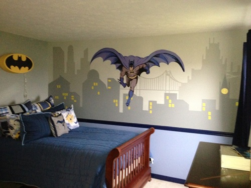 How to Decorate Your Son\'s Bedroom in a Batman Theme - Interior design