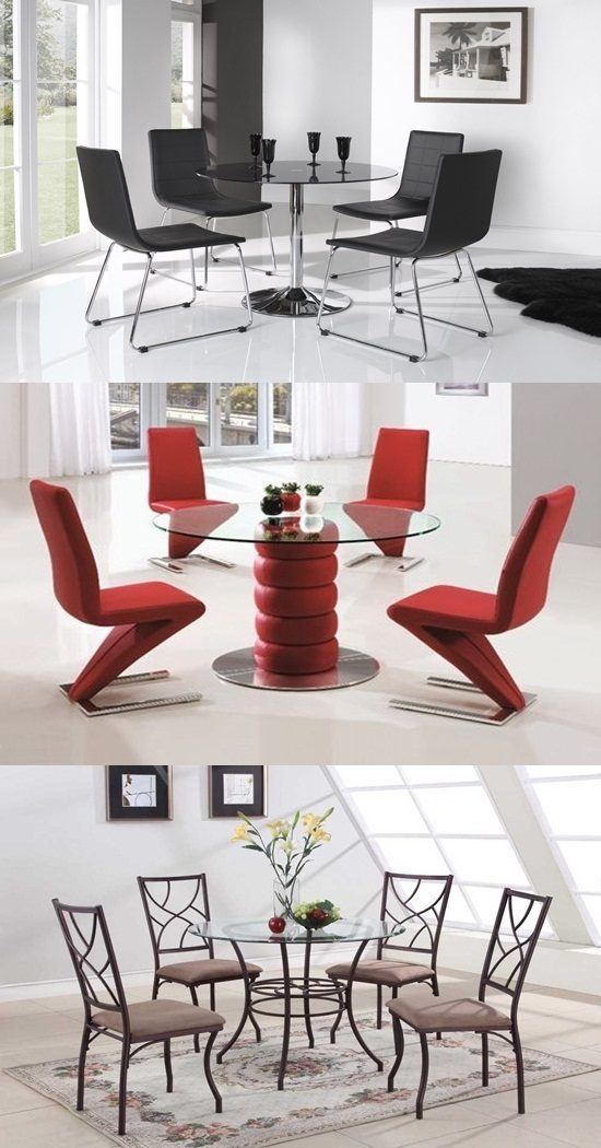How to choose the right round glass table and chairs