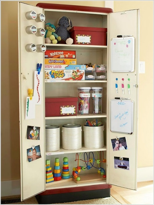 Inexpensive and practical toy storage ideas interior design for Cheap shelving ideas