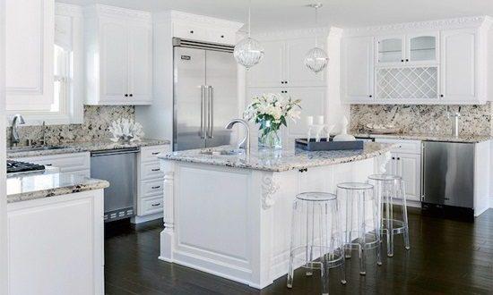 Kitchen Tile Backsplash Ideas with White cabinets