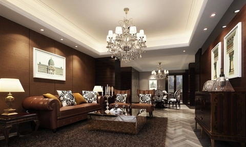 Living room brown wall design ideas interior design - Picture wall ideas for living room ...