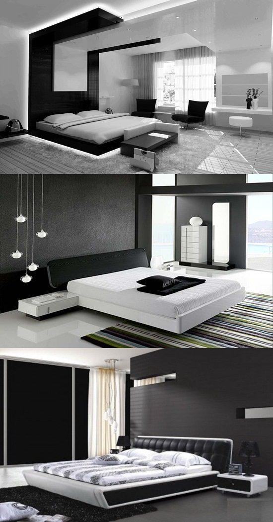 Modern Black And White Bedroom Design Ideas Interior Design