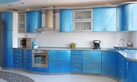 Modern Blue Kitchen Design Ideas