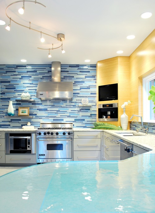 Modern blue kitchen design ideas interior design for Kitchen designs blue