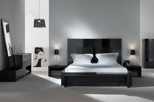 modern bedroom design with black and white | Modern Black and White Bedroom Design Ideas - Interior design