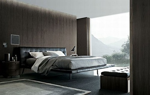 Modern black and white bedroom design idea