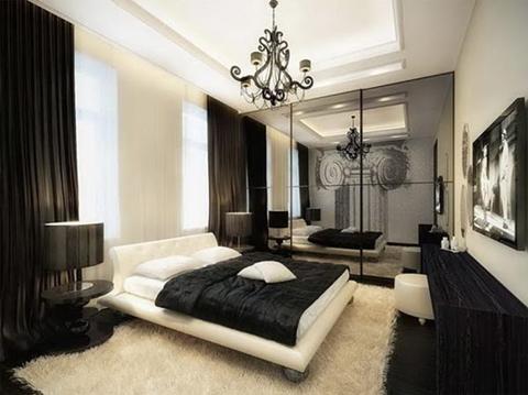 Modern Black and White Bedroom Design Ideas