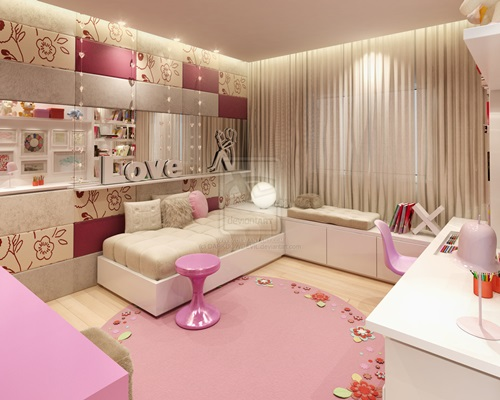 Types of chairs for bedrooms, girls' bedrooms